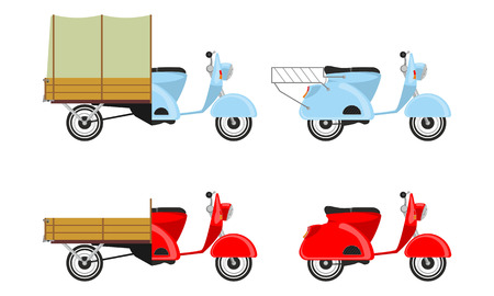 navigating: Set scooters Illustration