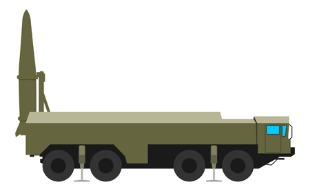 Mobile ballistic missile system produced and deployed Iskander