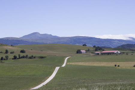 Typical landscape of northern Spain in the autonomous community of Navarra