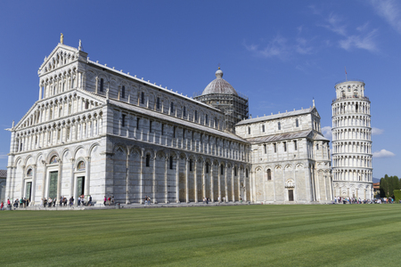 Miracles Square with its famous inclined tower of Pisa