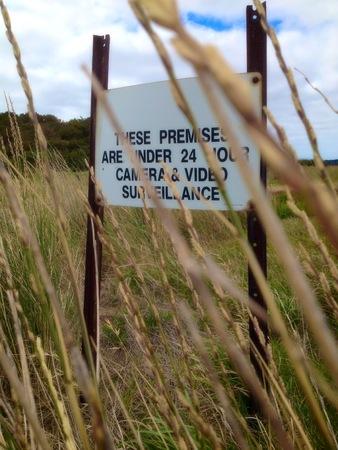 tresspass: video warning sign
