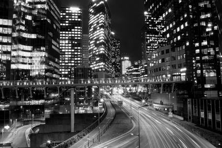 Black and white Paris city lights Stock Photo - 6370115
