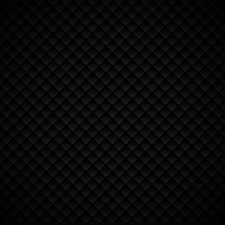 Abstract luxury black geometric squares pattern design on dark background. Luxurious texture. carbon metallic surface. Vector illustration Vectores