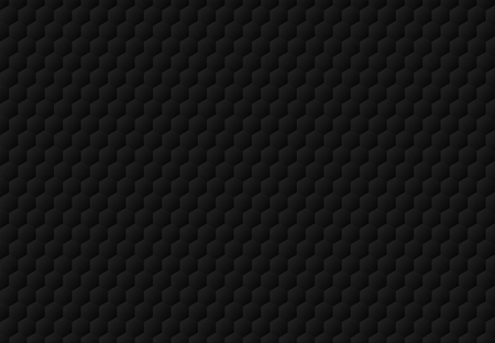 Abstract black hexagon embossed pattern dark background and texture. Luxury style. Vector illustration