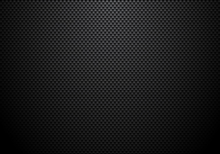 Carbon fiber background and texture with lighting. Material wallpaper for car tuning or service. Vector illustration