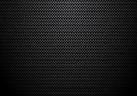 Kohlefaser-Hintergrund und Textur mit Beleuchtung. Materialtapete für Autotuning oder Service. Vektor-Illustration