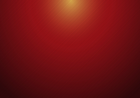 Abstract diagonal lines striped red gradient background with spotlight from above and texture for your business. Vector illustration