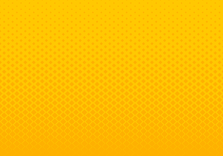 Abstract gradient yellow squares pattern halftone horizontal background pop art style. You can use for Design elements presentation, banner web, brochure, poster, leaflet, flyer, etc. Vector illustration