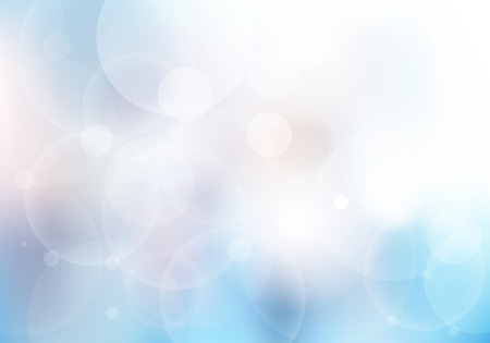 Abstract blue blurred beautiful background with bokeh lights. Vector illustration