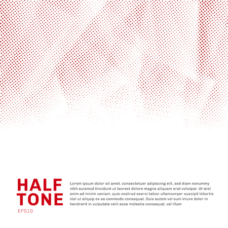 Abstract red halftone template low poly trendy on white background with copy space. You can use for website, brochure, flyer, cover, banner, etc. Vector illustration