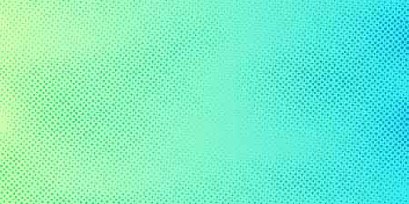 Abstract bright green and blue gradient color background with halftone pattern texture. Creative cover design template. Vector illustration 向量圖像
