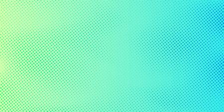 Fondo de color degradado verde y azul brillante abstracto con textura de patrón de semitonos. Plantilla de diseño de portada creativa. Ilustración vectorial Ilustración de vector