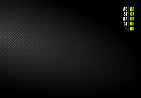 Abstract diagonal lines striped black and gray gradient background and texture with light from the side. You can use for your business. Vector illustration
