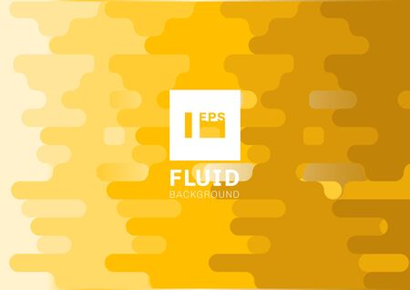 Abstract fluid yellow rounded lines background halftone style. Liquid shape horizontal pattern. Vector illustration 向量圖像