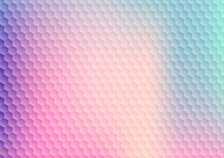 Abstract gradient vibrant color hexagon pattern background and texture. Modern colorful geometric honeycomb. Vector illustration