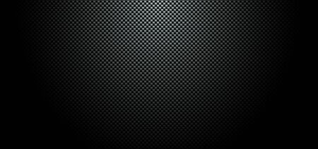 Abstract black carbon fiber meterial background and texture. Vector illustration