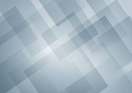 Abstract white and gray geometric square shape overlapping layer background. Vector illustration