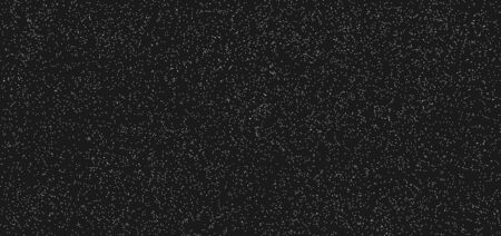 Abstract white dotted pattern grunge on black background and texture. Surface with fine fibers, particles and dust. Small noise, chaotic dots, spots. Vector illustration Иллюстрация