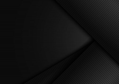 Abstract black shiny layer diagonal with stripes lines texture background. Luxury style. Vector illustration