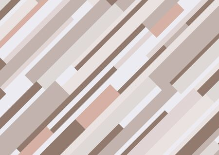 Abstract geometric diagonal rectangle stripes pattern brown color tone background and texture. Vector illustration Иллюстрация