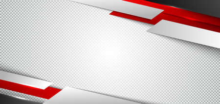 Abstract corporate banner web design red and white geometric diagonal on white background texture technology concept. Vector illustration