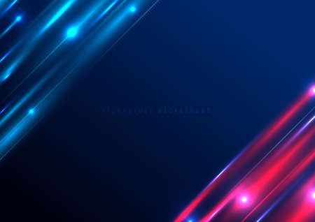 Template banner web design background blue and white square shape with shadow. Vector illustration Иллюстрация