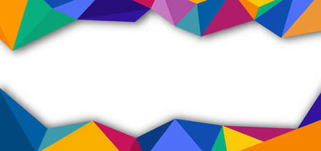 Abstract purple, orange, yellow geometric pattern minimal style on white background. You can use for banner web design, poster, brochure, flyer, print ad, etc. Vector illustration Иллюстрация