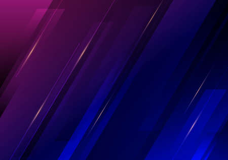 Abstract diagonal stripes with dark blue and pink background and texture with lighting effect. Vector illustration Illustration
