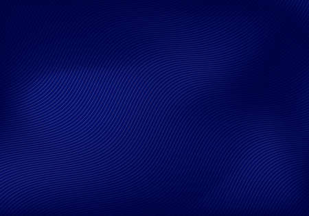 Abstract wavy lines pattern on blue background and texture. Vector illustration