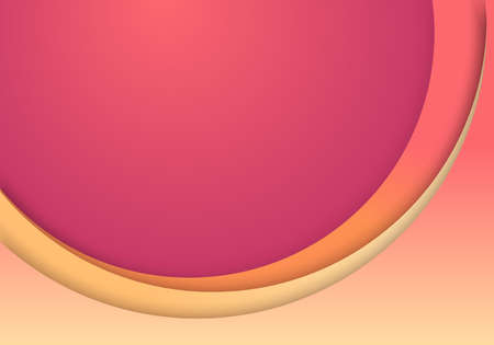 Abstract background pink layer circles curve paper cut style template. You can use for banner web, poster, wallpaper, cover design, leaflet, etc. Vector illustration
