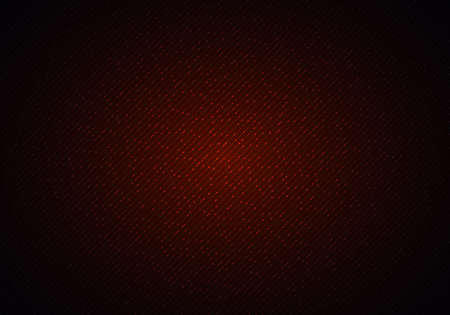 Abstract red shiny diagonal lines and dot particles with lighting on dark background. Technology digital futuristic concept. Vector illustration