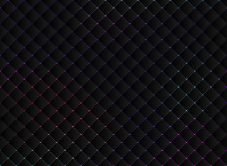 Abstract technology black squares mosaic pattern on vibrant bright color background and texture. Vector illustration