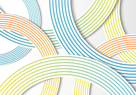 Abstract circles gradient lines overlap layer on white background. Vector illustration
