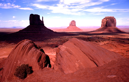 sun bathers: Monument Valley, Arizona Stock Photo