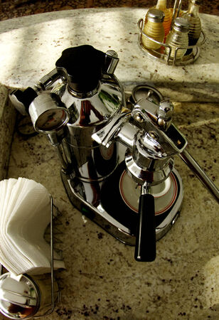 Espresso maker and spices