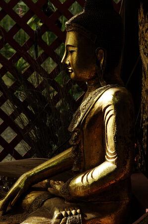 statuary garden: Buddha in the garden Stock Photo