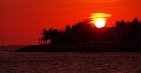 llave de sol: Puesta de sol de Key West