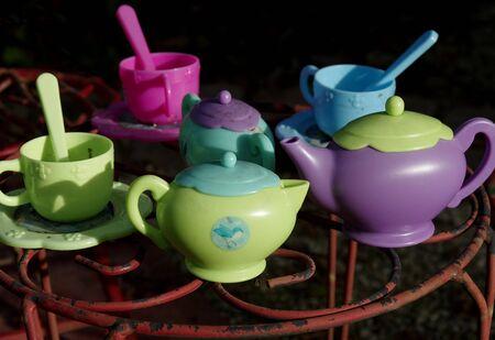 Garden toy tea setting