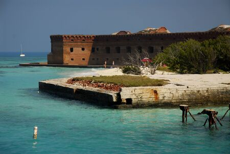 dry tortugas: Dilapidated dock in Fort Jefferson