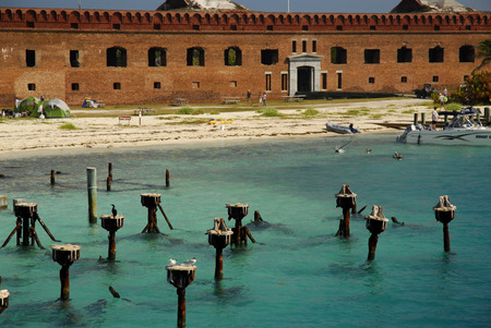 fort jefferson: Rusted docks of Fort Jefferson