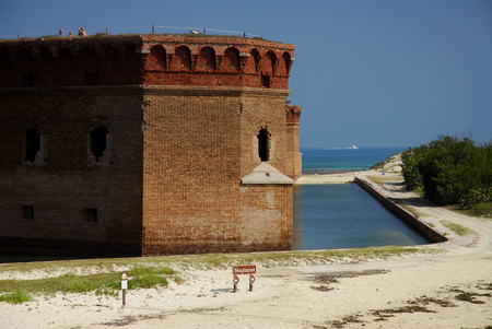 fort jefferson: Moat of Fort Jefferson in the Dry Tortugas, Florida