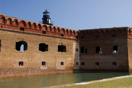 fort jefferson: Wall and Moat of Fort Jefferson, Florida Editorial