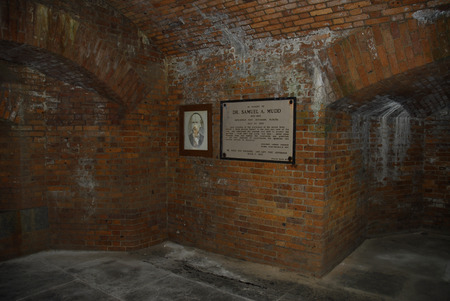 Jail cell of Doctor Mudd involved in Lincoln's assassination.