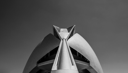 Detail of the monumental dome of the palace of the arts in Valencia. Building made for the creation the promotion and the diffusion of all the arts photo