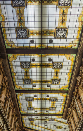 alberto: the decorated glass ceiling of Galleria Alberto Sordi in Rome finished building in 1922 Editorial