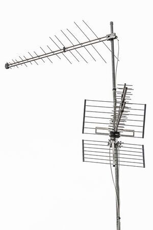 receiver: old television antenna receiver Stock Photo