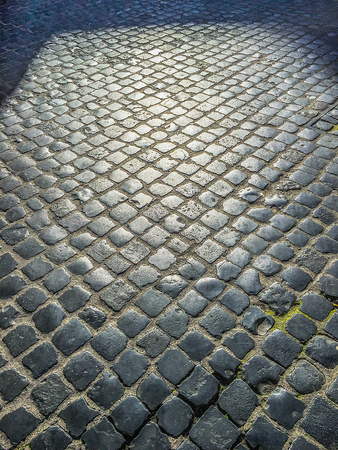 st peter s square: cobblestone pavement in the streets of Rome Stock Photo
