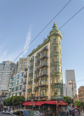 San Francisco, Ca, USA, October 22, 2016: The Coppola building viewed from Columbus Avenue Editorial