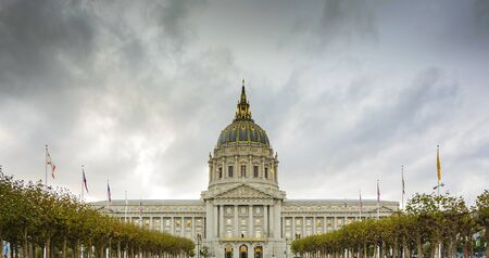 San Francisco City Hall is Beaux-Arts architecture and located in the citys civic center.