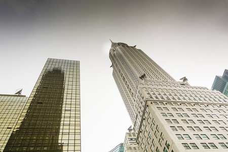 New York, USA, Novembre 2, 2016: The Chrysler Building, an Art Deco skyscraper and the worlds tallest building for 11 months before the Empire State Building. Editorial